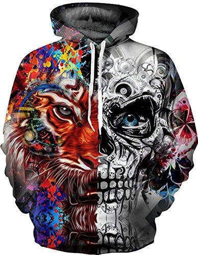Imilan Athletic 3D Animal Galaxy Print Hoodie Sweatshirt for sale  Delivered anywhere in Canada