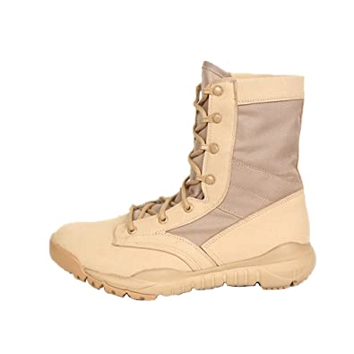 finest selection 99ef2 8e56c PANY Summer Men's Ultra Light Breathable Combat Boots Commando Outdoor  Desert Tactical Boots Military Boots