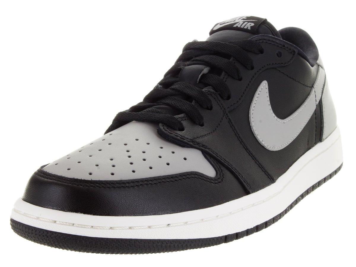 Nike Herren Air Jordan 1 Retro Low OG Turnschuhe, Talla  44 EU Schwarz / Grau (Schwarz / Medium Grey-segel)