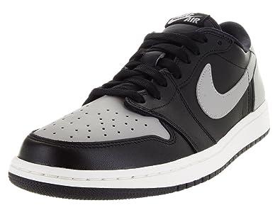 best service 37ccb 031f0 Jordan Nike Men s Air 1 Retro Low OG Black Medium Grey Sail Basketball Shoe