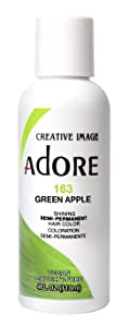 Adore Semi-Permanent Haircolor #163 Green Apple 4 Ounce (118ml)
