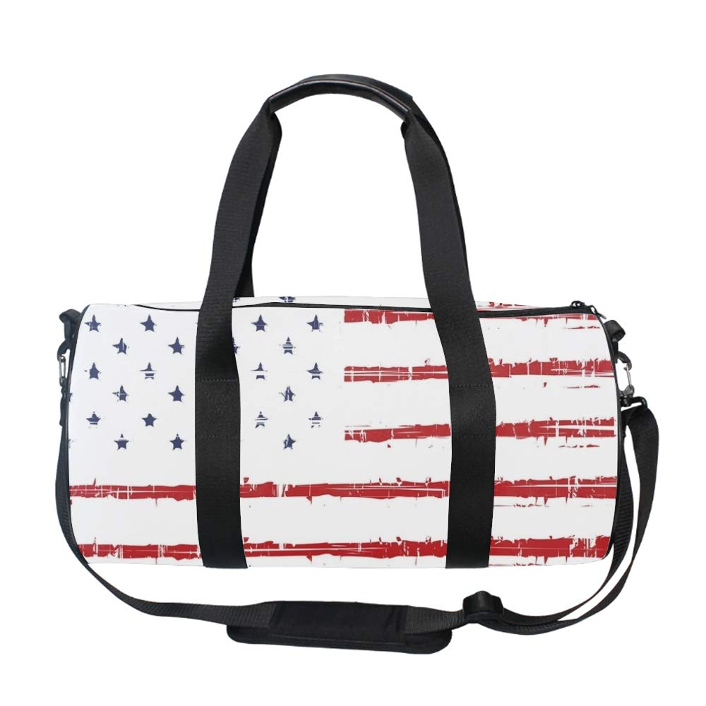 Romania Flag Travel Duffel Bag Foldable Large Travel Bag Weekend Bag Checked Bag Luggage Tote 18 x9 x9 inches