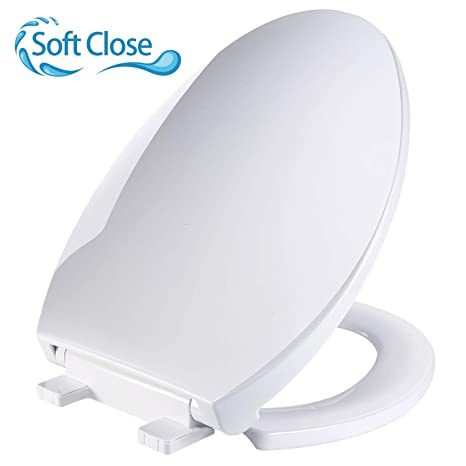 Admirable Elongated Toilet Seat Teccpo Toilet Seat Elongated With Safe Pp Material Anti Slip 3D Surface Elongated White Toilet Seat Slow Close Toilet Seats Machost Co Dining Chair Design Ideas Machostcouk