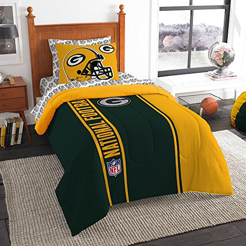 NFL Green Bay Packers Soft & Cozy Twin Comforter Set (5 Piece), 64