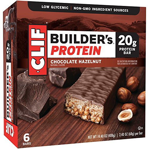 CLIF BUILDER'S - Protein Bar - Chocolate Hazelnut - (2.4 Ounce Bar, 6 (Clif Builders Bar Chocolate)