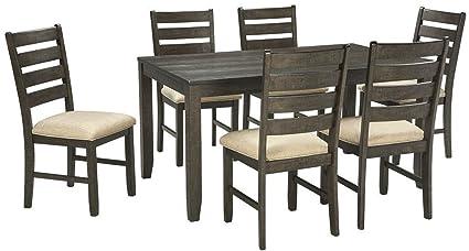 Ashley Furniture Signature Design   Rolena Industrial Dining Set   7 Piece    Ladder Back