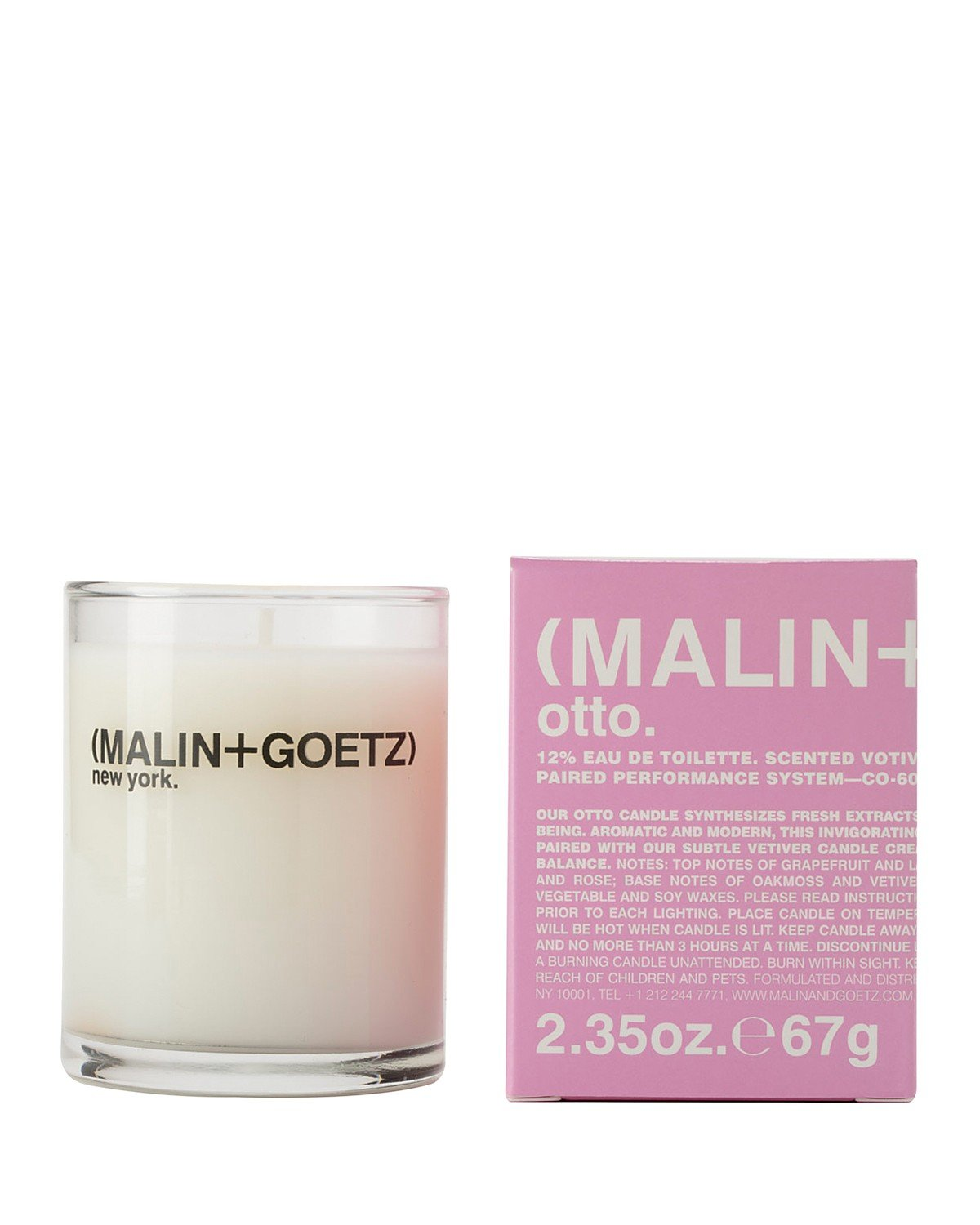 M MALIN and GOETZ Otto Votive Candle 2.35oz (Pack of 2)