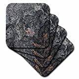 3dRose Sandy Mertens Hawaii Travel Designs - Hawaii Volcano National Park View of Volcanic Rock with Lava - set of 4 Coasters - Soft (cst_232754_1)