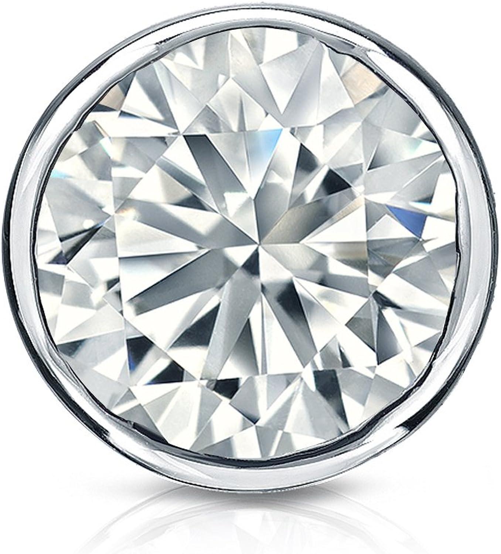 Bezel-Set 1//8 to 1cttw, J-K, I1-I2 Diamond Wish 18k Gold Round Single Diamond Stud Earring Push-Back