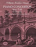 Piano Concertos Nos. 7-10 in Full Score: With Mozart's Cadenzas (Dover Music Scores)
