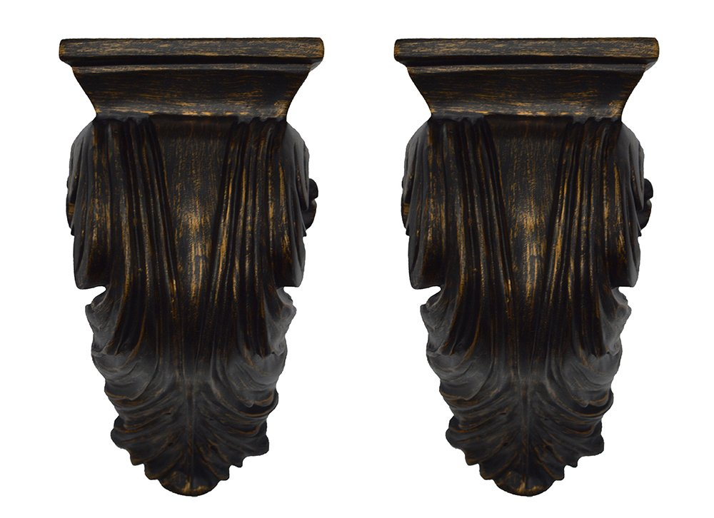 Urbanest Set of 2 Cameau Drapery Sconce, 2-inch Diameter, Burnt Gold by Urbanest