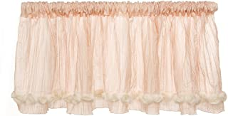 product image for Glenna Jean Contessa Window Valance, Pink Crinkle with Roses