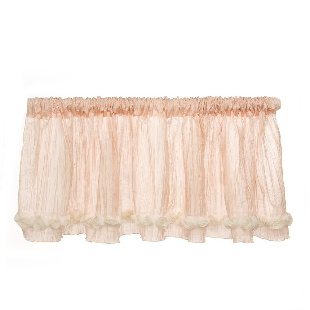 Glenna Jean Contessa Window Valance, Pink Crinkle with Roses by Glenna Jean