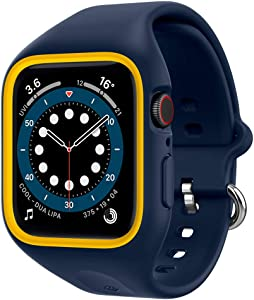 Caseology Nano Pop Compatible with Apple Watch Band with Case for 44mm Series 6/SE/5/4 - Blueberry Navy