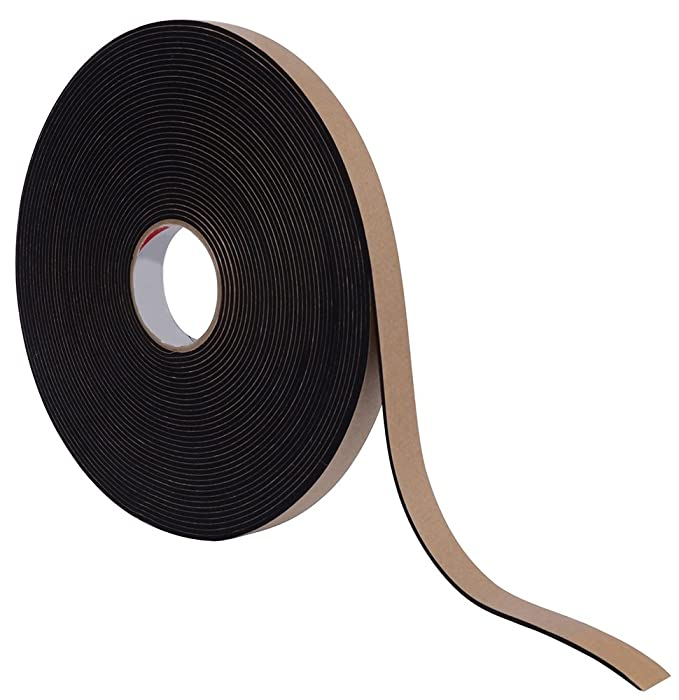 "Pres-On P8225RL00.50XOH Neoprene Foam Tape with 3"" Core, 1/16"" x 1/2"" x 100', Black"