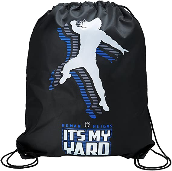 WWE Authentic Wear WWE Roman Reigns Its My Yard Drawstring Bag Black