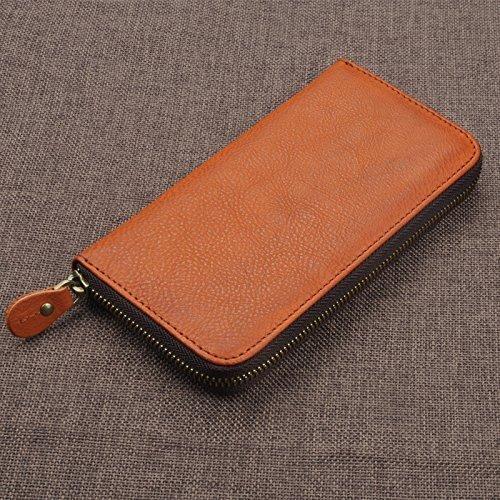 Personalized Men Wallet Clutch Bag Handbag iPhone 7 plus wallet Organizer Zipper - Von Logo Zipper