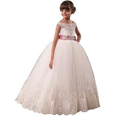 Kalos Dress Shop Girls Vintage Flower Prom Dresses For Girls 2-13 Year First Communion