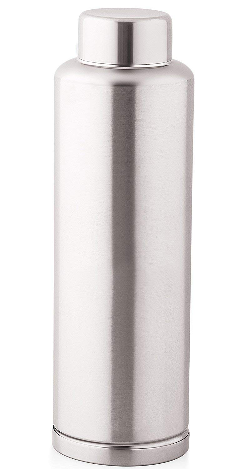 aa0aeac79e Zafos Chrome Stainless Steel Sipper Water Bottle, 1000ml – Set of 2 Pieces  @ Rs.299/-