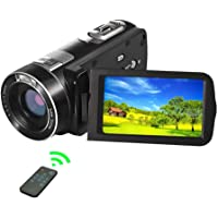 SEREE Video Camera Camcorder 1080P 24.0MP Digital Camera with 3.0 inch LCD 270 Degrees Rotation Screen Remote Control Vlogging Camera for YouTube