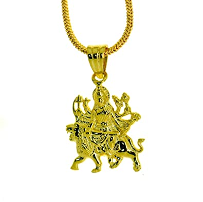 Buy dijyo durga ji pendant 24k gold plated gp169 online at low dijyo durga ji pendant 24k gold plated gp169 mozeypictures Image collections
