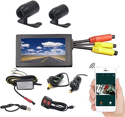 """Dual Lens 2CH Dash Cam 1080P Wifi 2.31/"""" LCD Sony IMX323 Sensor GPS 32GB"""