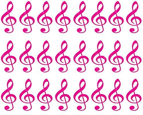 Pink-Music-Band-Notes-Birthday-Cake-Side-Designer-Strip-Edible-CakeCupcake-Party-Topper