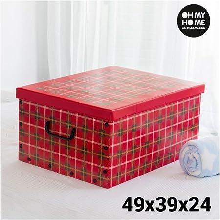 Caja de Cartón para Almacenaje con Tapa y Asas Cuadros Oh My Home: Amazon.es: Hogar