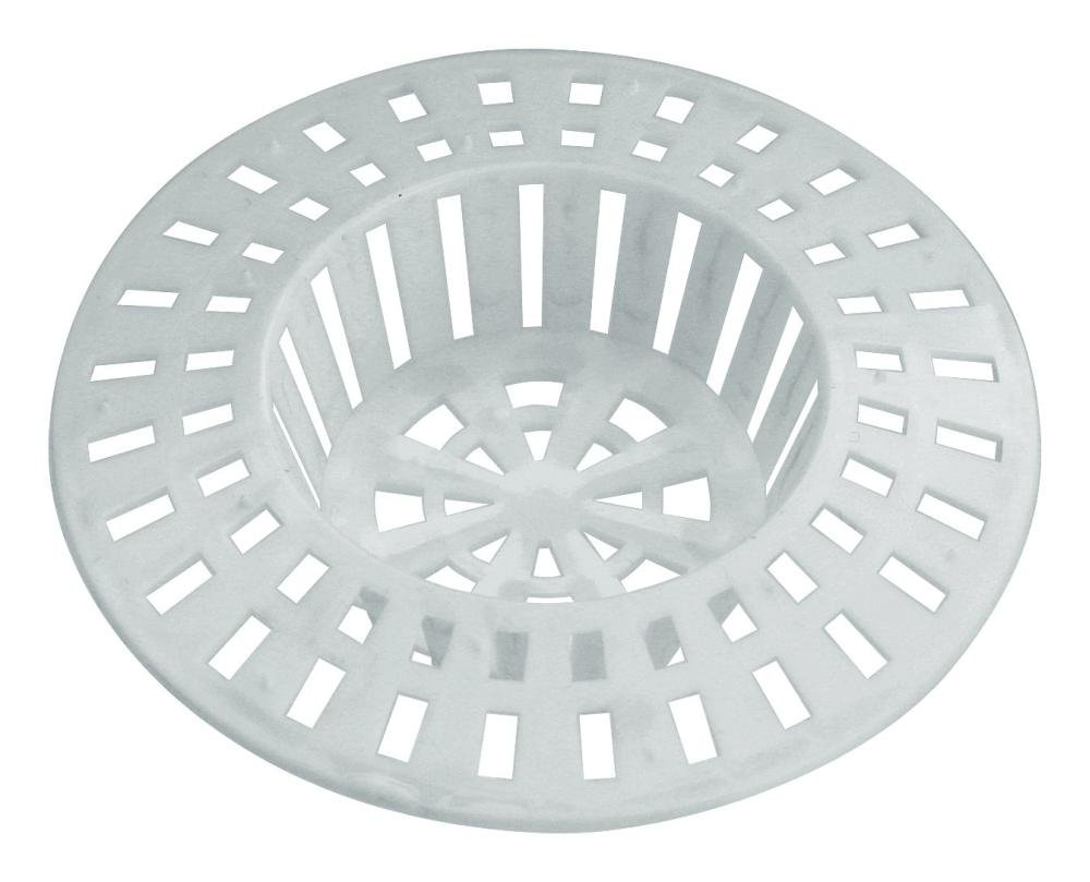 Home Xpert Shower Hair Sieve Strainer Hair Catcher Sink Strainer, Set of 2Available in Different Sizes and Colours, Plastic, white, 6 cm