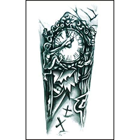 CLLCR Tatuajes Temporales - Reloj Flor Brazo/Pegatina Impermeable ...