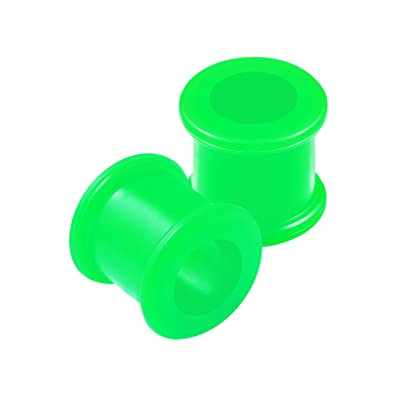 BanaVega 2 Piezas de Silicona Verde Doble Acampanado Sillín para dilatador de Oreja dilatador de Túnel dilatador de Dilatación, Pendientes de Piercing de ...