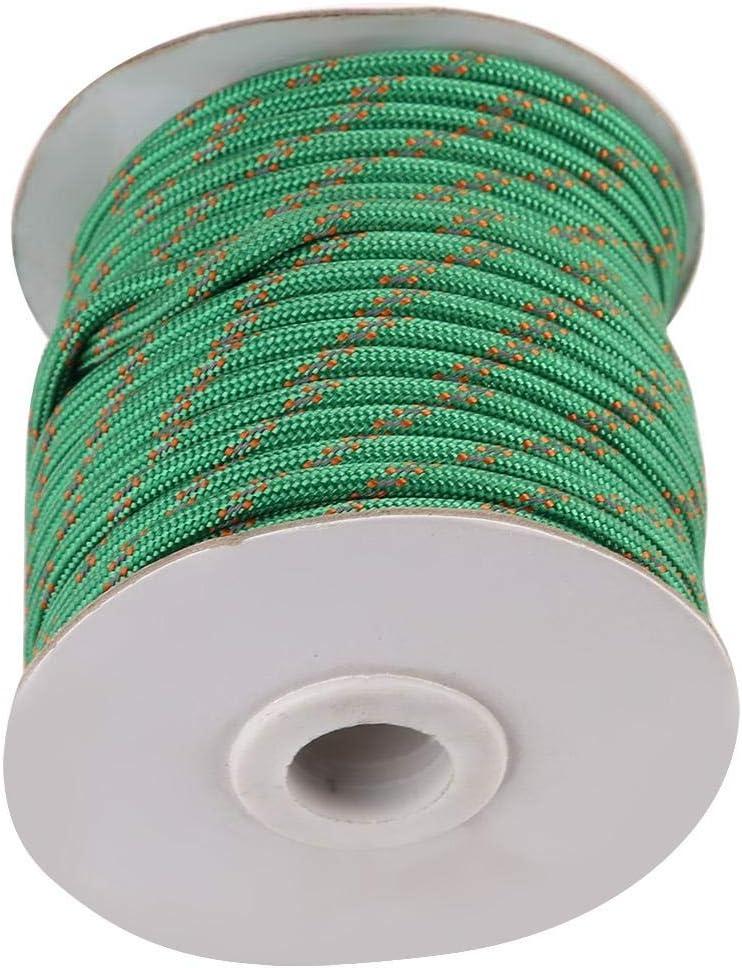 Cuerda de Nylon Impermeable a Prueba de Viento Cuerda para tendedero para Carpa jard/ín Acampar al Aire Libre Duokon Cuerda de Nylon Truco Multifuncional de 20 m Verde