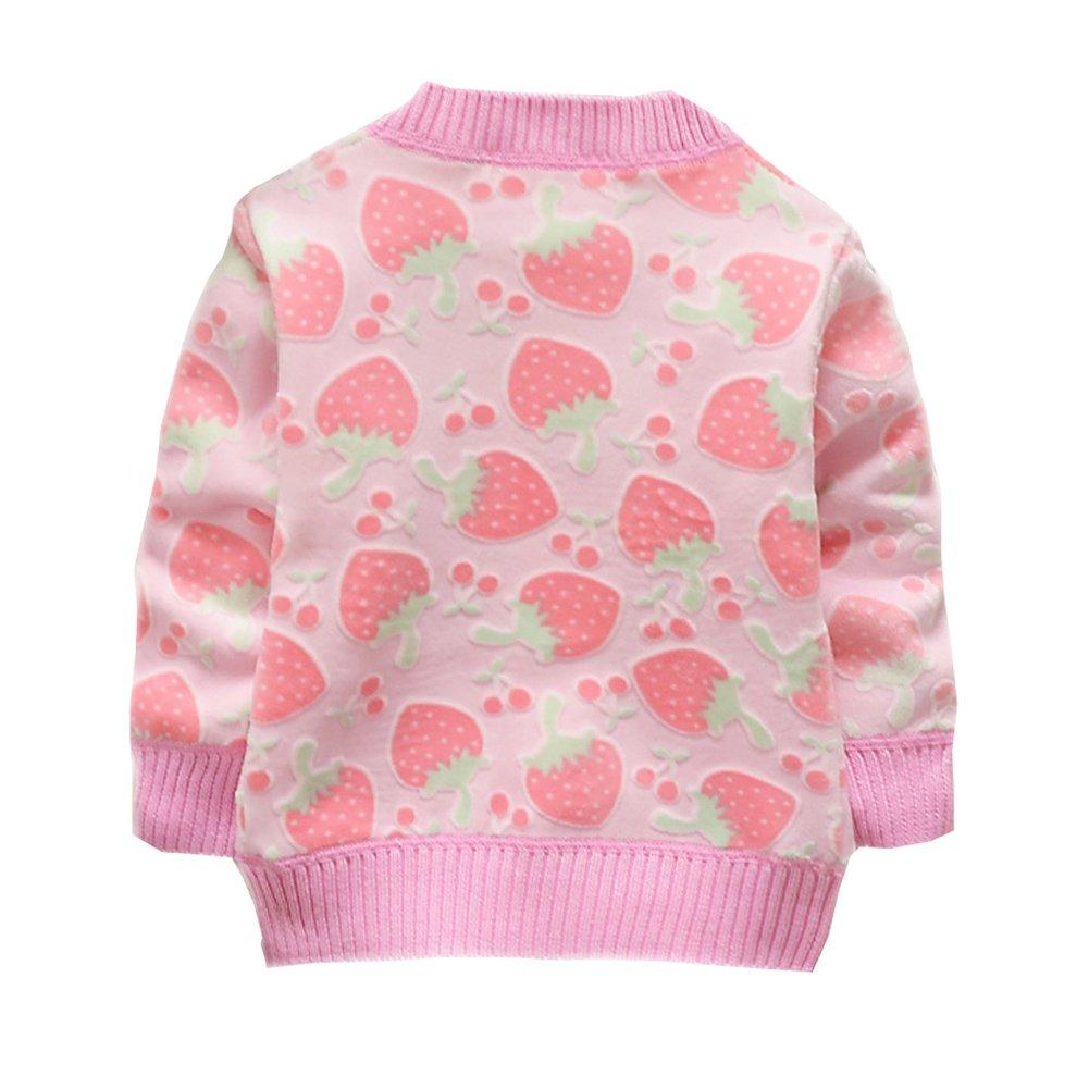 1fb67eae0 Shiningup Baby Girls Cardigan Outwear Long Sleeve Knitwear Cartoon ...