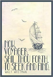 Amazon.com: A4 Size Parchment Poster Classic Poem Walt Whitman O ...