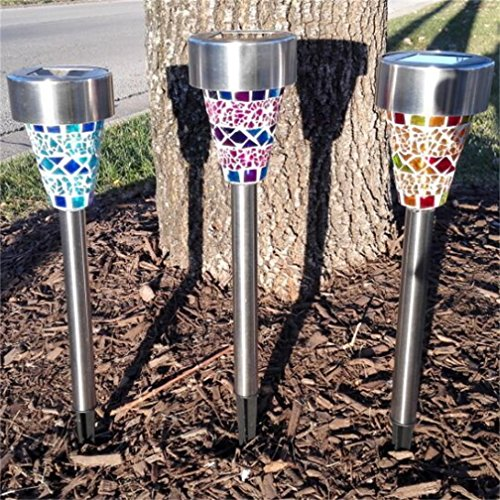 sogrand solar garden lights outdoor decorations mosaic home decor stakes yard decorative stake. Black Bedroom Furniture Sets. Home Design Ideas