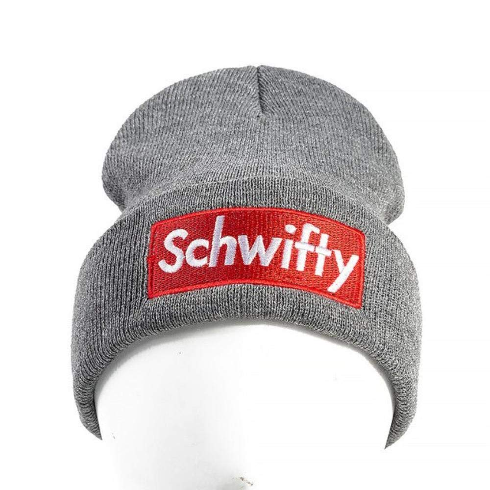Unisex Casual Hat Schwifty Letter Warm Beanies Cap Women and Men Knitted Winter Hat (Black) at Amazon Mens Clothing store: