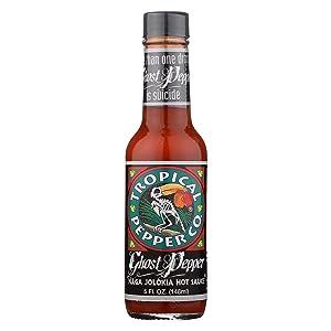 Tropical Pepper Hot Ghost Pepper Sauce, 5 oz (Pack of 1)