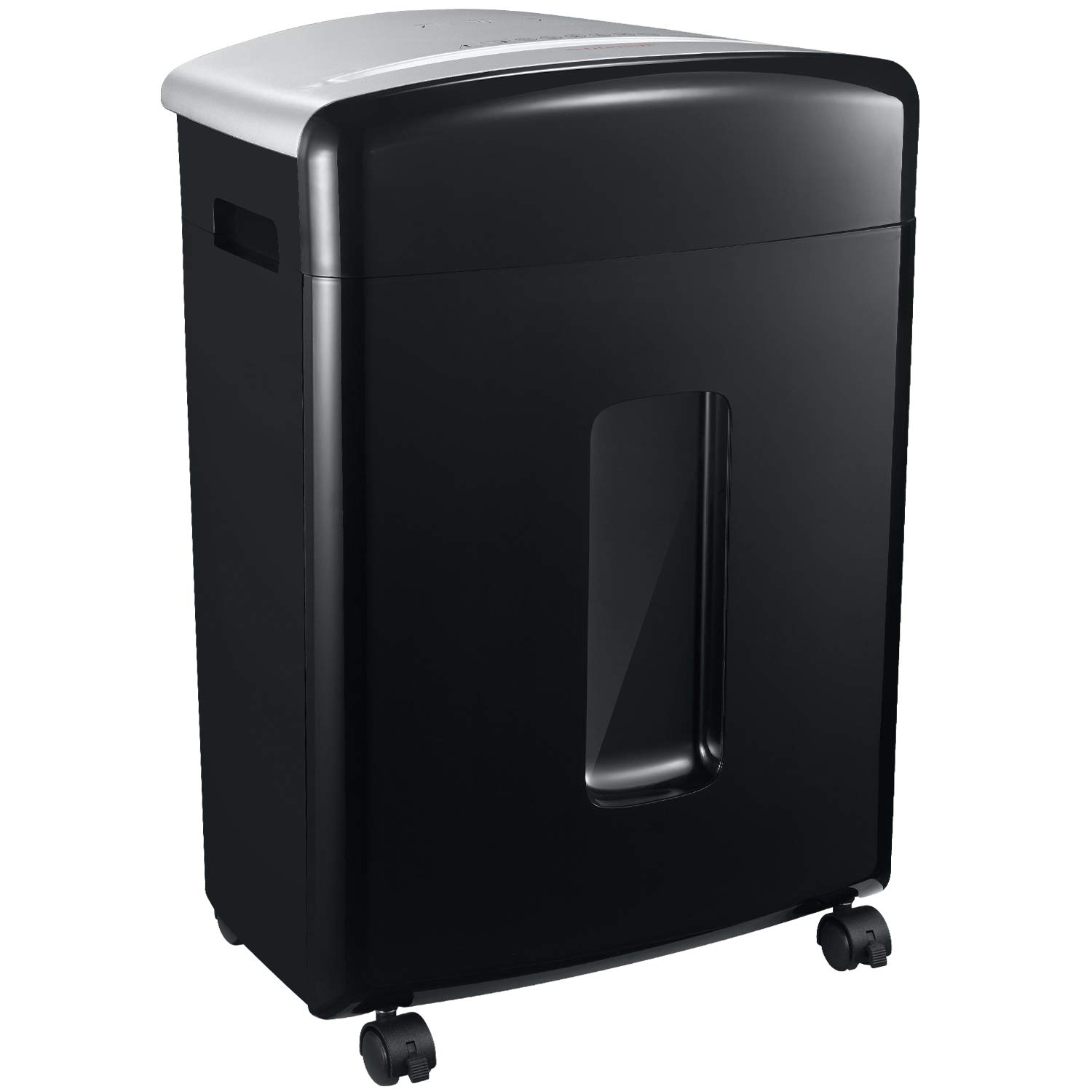 Bonsaii 16-Sheet Micro-Cut Paper/CD/Credit Card Shredder, 20 Minutes Running Time, 60 dB Low Operation Noise, 6.6 Gallons Basket and 4 Casters (C222-B) by bonsaii (Image #1)