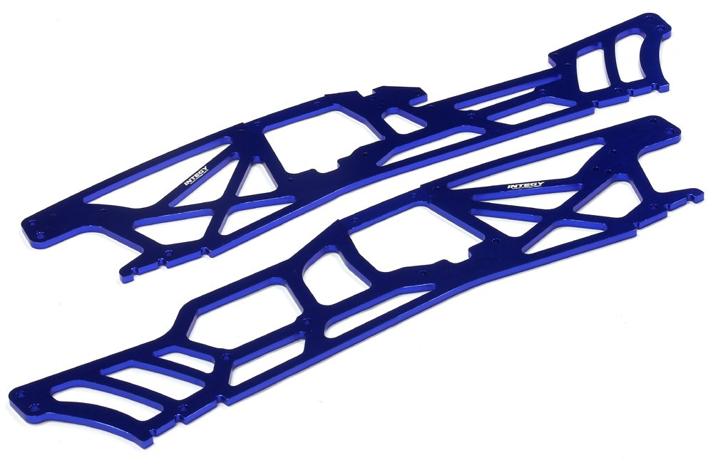 Integy RC Model Hop-ups T6983Blau 4mm Chassis Plate(2) for for for HPI Savage XL 4dadee