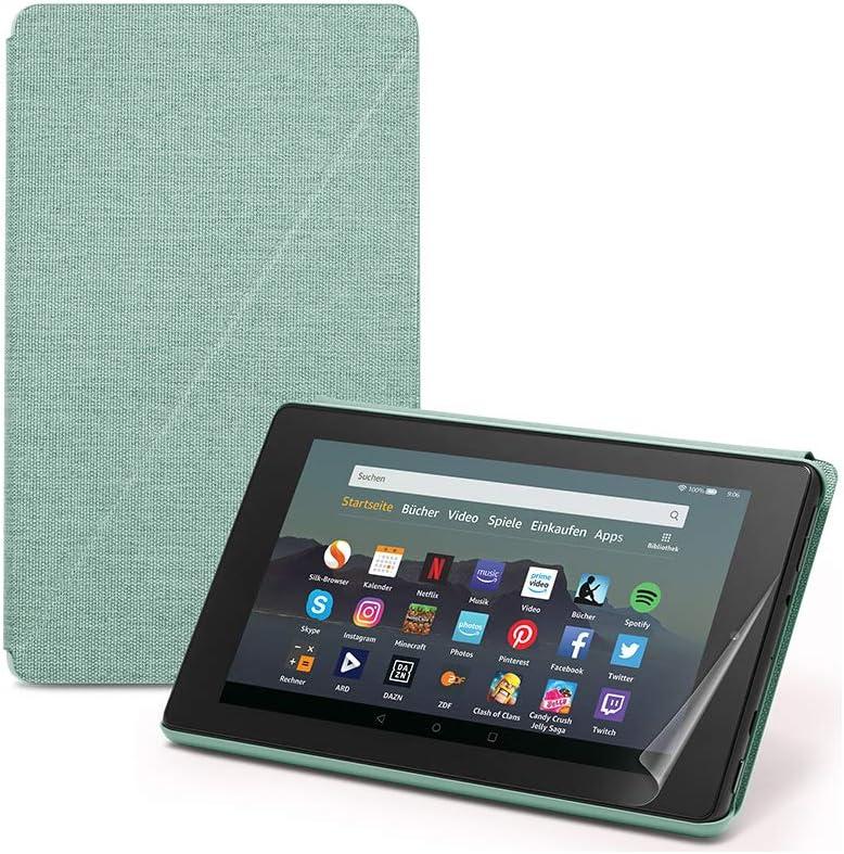Fire 7 Essentials Bundle Mit Fire 7 Tablet Mit Alexa 7 Zoll Display 16 Gb Schwarz Mit Werbung Amazon Hülle Grün Und Displayschutzfolie Von Nupro 2er Pack Amazon Devices