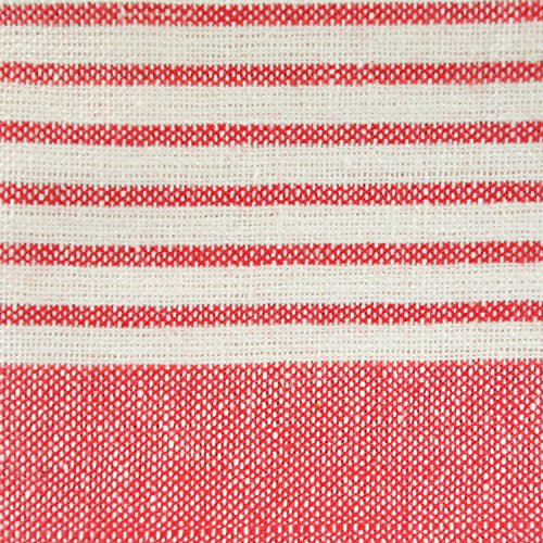 DII 100% Cotton, Ultra Absorbent, Drying & Cleaning, Everyday Kitchen Basic, Classic Stripe Dishtowel, 20 x 28, Set of 8- Red by DII (Image #1)