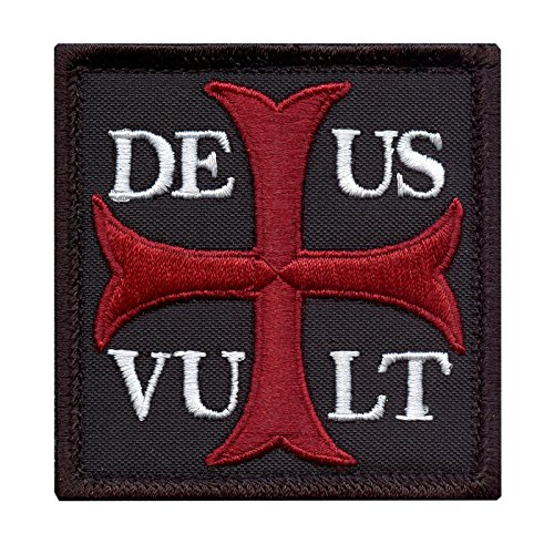 Deus Vult God Wills It Crusader Knight Holy Cross Templar Crusaders Tactical Morale Touch Fastener Patch