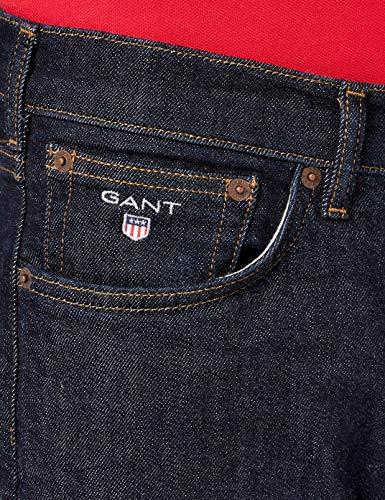Regular Jeans Dritti Blue Uomo Gant Blu dark Jean d6O4xwq