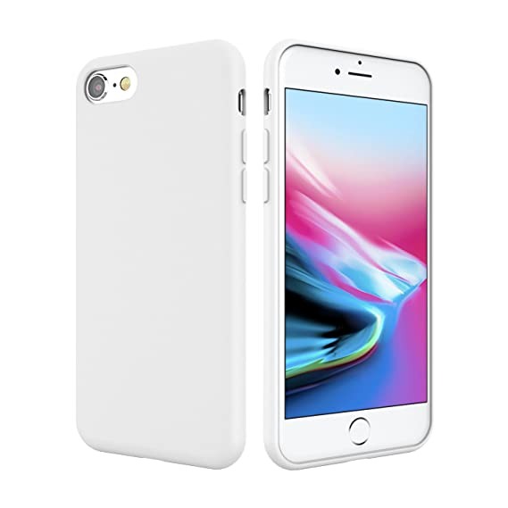 detailed look 4ace5 6391f iPhone 8 Silicone Case, iPhone 7 Silicone Case, Weduda Liquid Silicone Gel  Rubber Full Body Protection Mobile Phone Case with Drop Shockproof PC ...