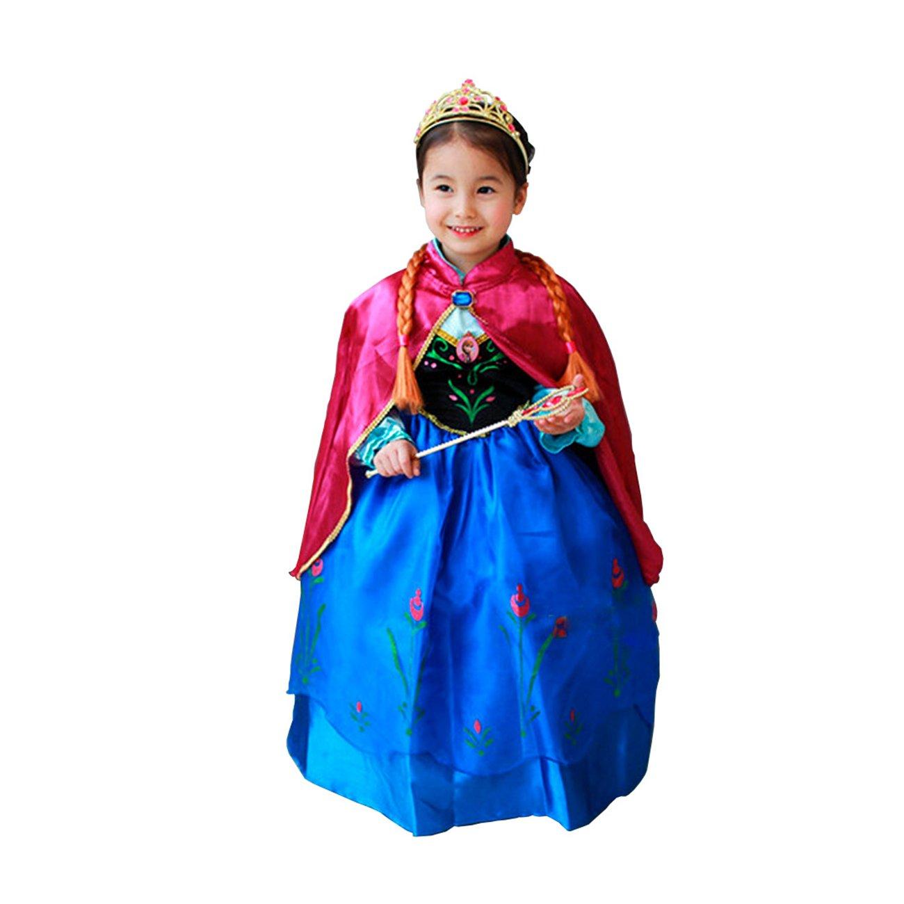 Frozen Vestido Niñas Disfraz ANNA ELSA (120 (4-5 años)) product image