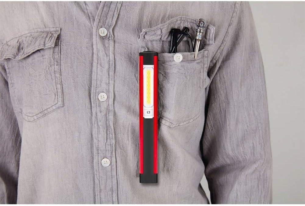 P/êche Paquet de 2 Randonn/ée Camping Promenade Winzwon Lampe de Travail USB Rechargeable Lampe dinspection COB Lampe de Poche avec Base dAimant et pour Bricolage,Travail