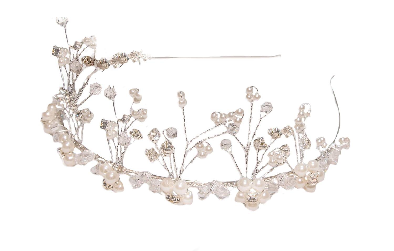 5 Haarnadeln GROSSE Blume Braut Haarschmuck Hochzeit Strass Blüte Tiara Diadem