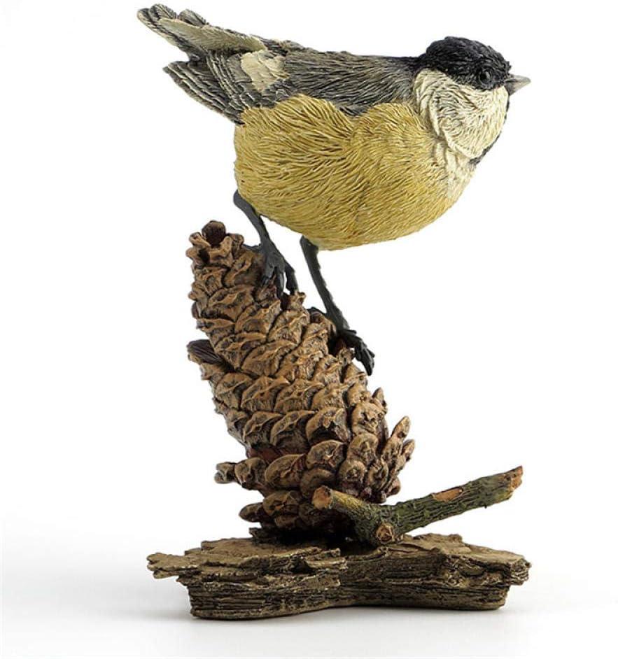Resin Blue Tit Bird Garden Ornament Lawn Statue Sculpture Figurine Patio Decor