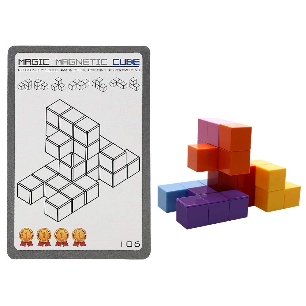 Magnetic Toys Magic Cubes Stress Relief for Adults Magnet Blocks for Kids Magnetic Building Blocks Bricks Toy Educational Puzzles by Bicycle (Image #3)