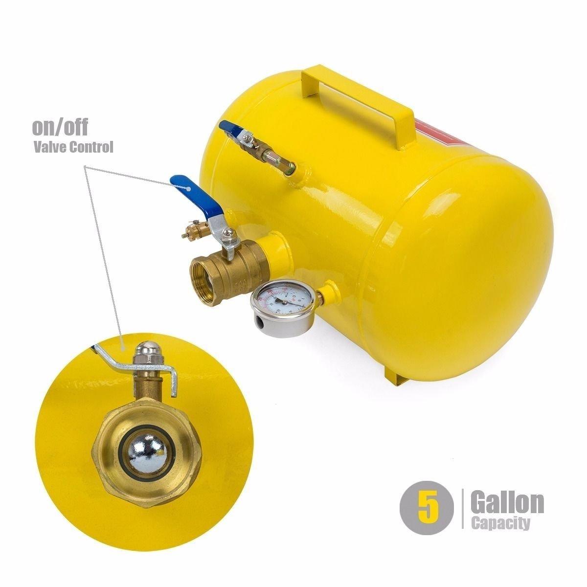Stark 5 Gal Rapid Inflator Air Bead Seater Tire Tool Pump Wheel Tool Air Operation Pressure Tractor Car Truck ATV Seating (5 Gallon) Capacity by STKUSA (Image #6)